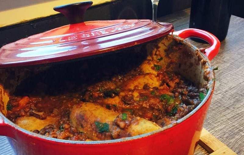 Recipe: MOR sausage and lentil pot