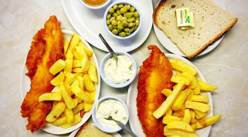 John longs fish and chip shop Belfast