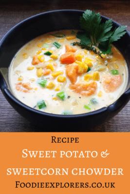 Vegan sweet potato and corn chowder recipe