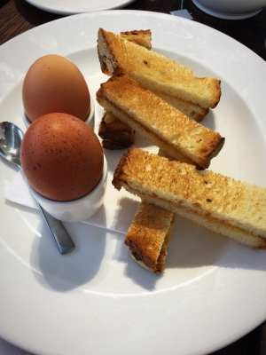 Boiled eggs and toast soldiers The perfectionists cafe Heathrow Heston