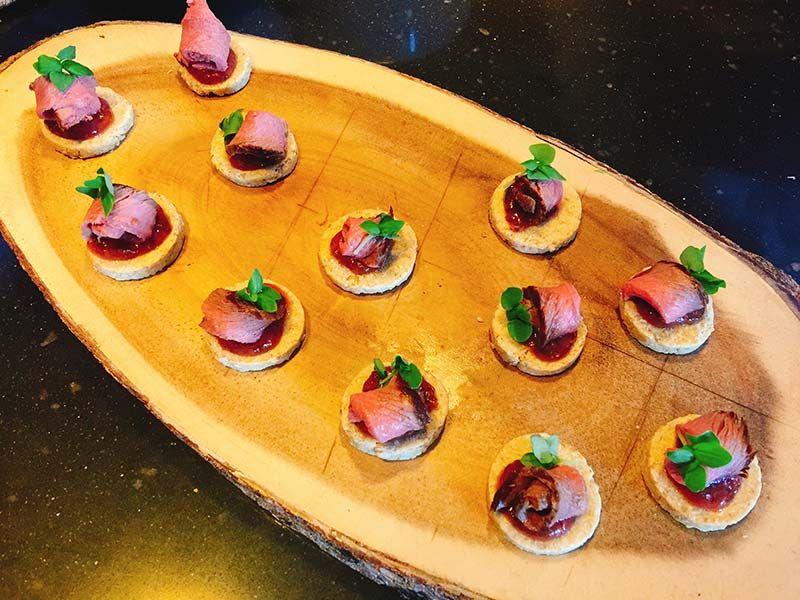 Cater at Old Town Chambers by Barry Bryson - venison canape