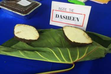 Blue food festival Dasheen Tobago