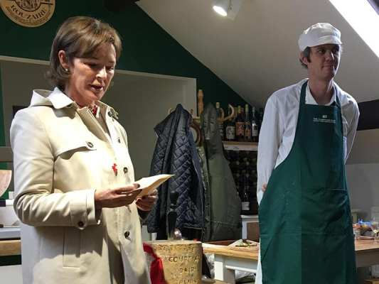 Duchess and Andy Swinscoe at the Courtyard Dairy opening
