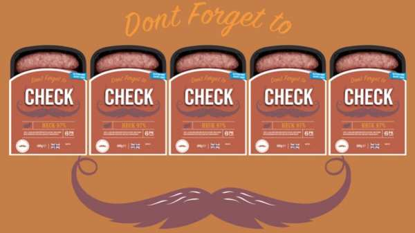 Check with Heck Movember sausages