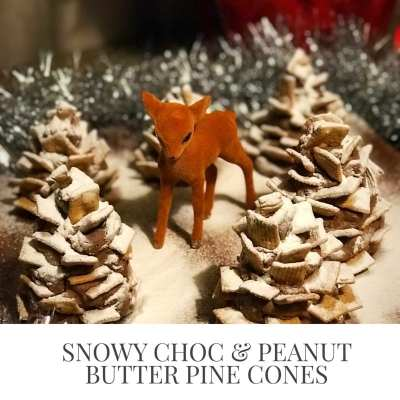 chocolate pine cones for kids to make home baking