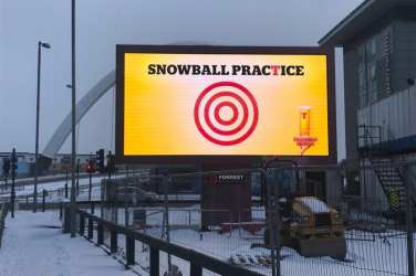 Tennent's Lager the Beast from the East Glasgow snow