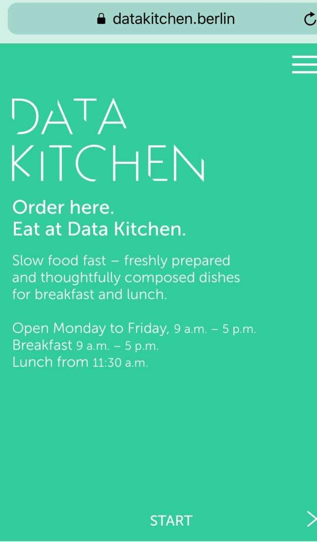 Data Kitchen Berlin foodie explorers