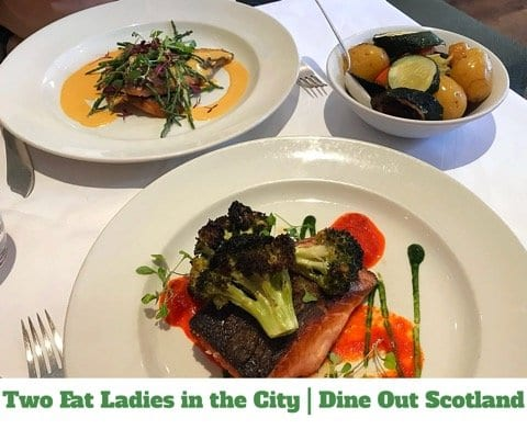 two fat ladies in the city glasgow 5pm Dine Out Scotland lunch