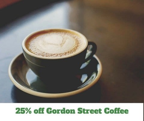 25% off Gordon Street Coffee