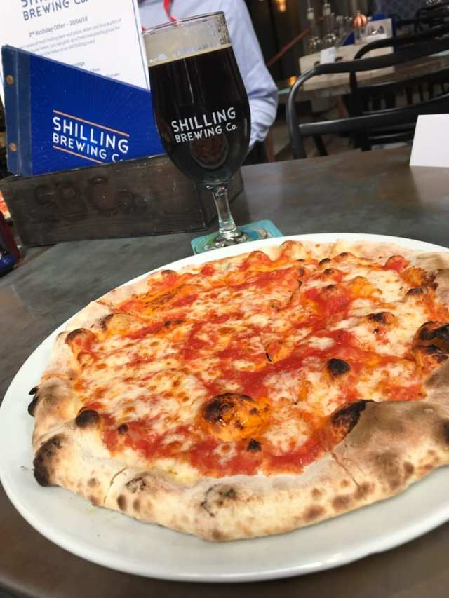 schilling brewing co pizza and beer