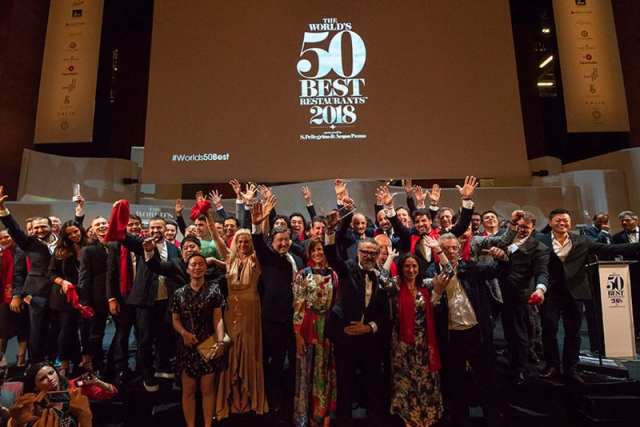 World's best 50 - winners group photo