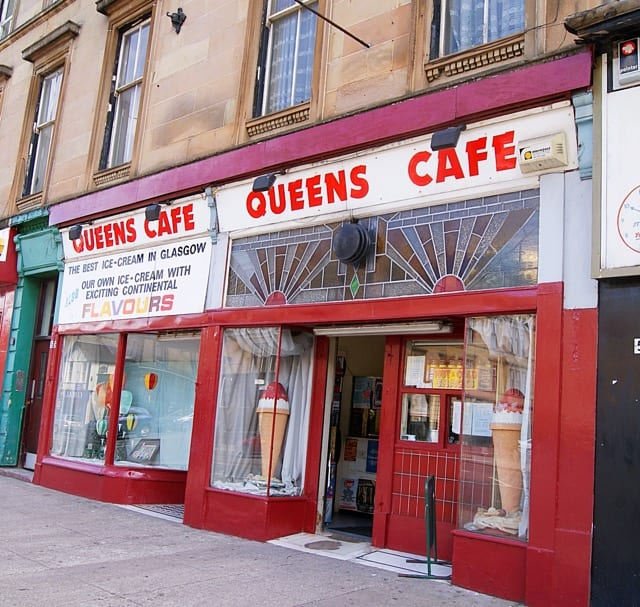 Queen's cafe Glasgow foodie explorers best ice cream in Glasgow