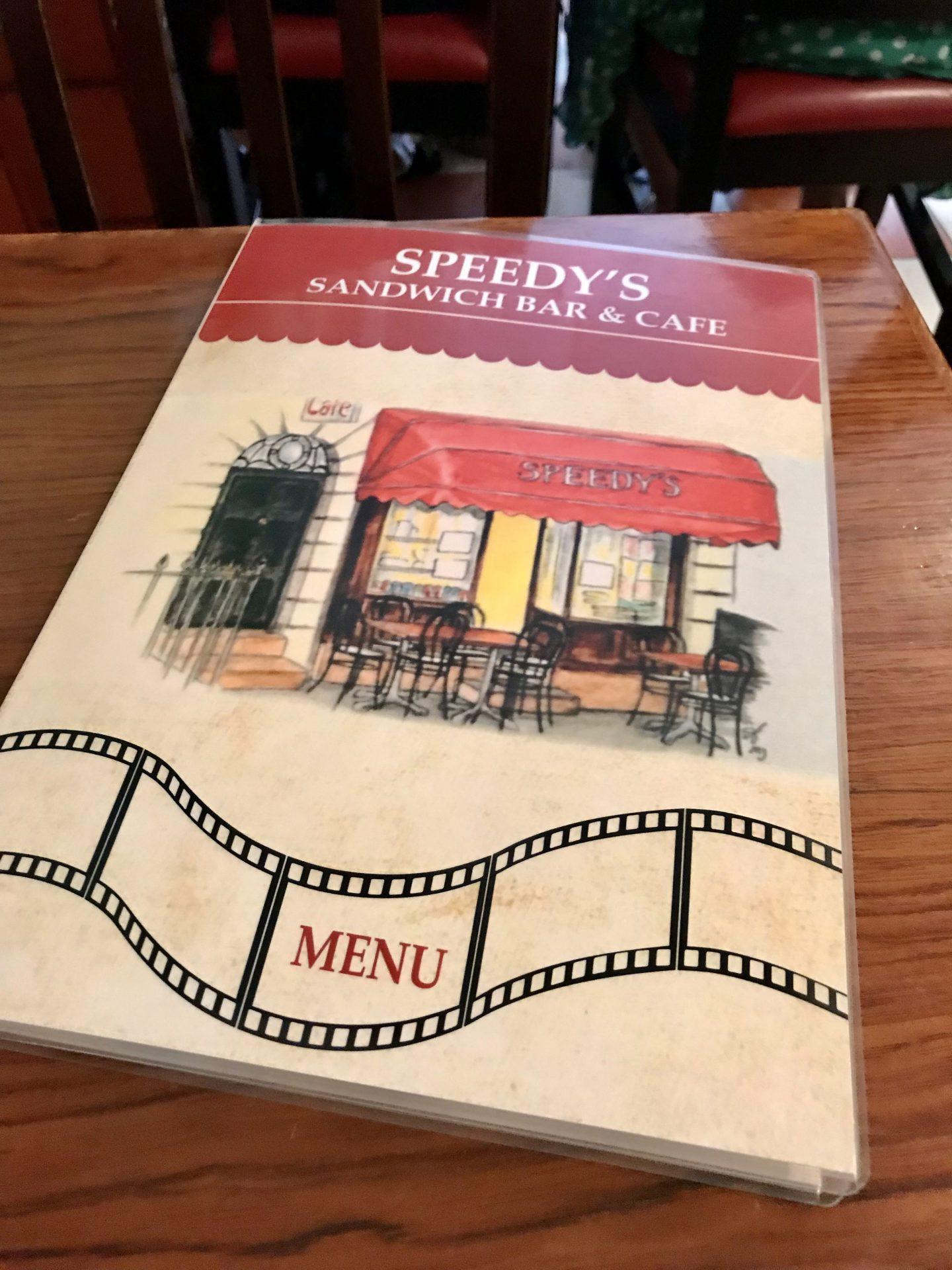 Sherlock speedys cafe menu London