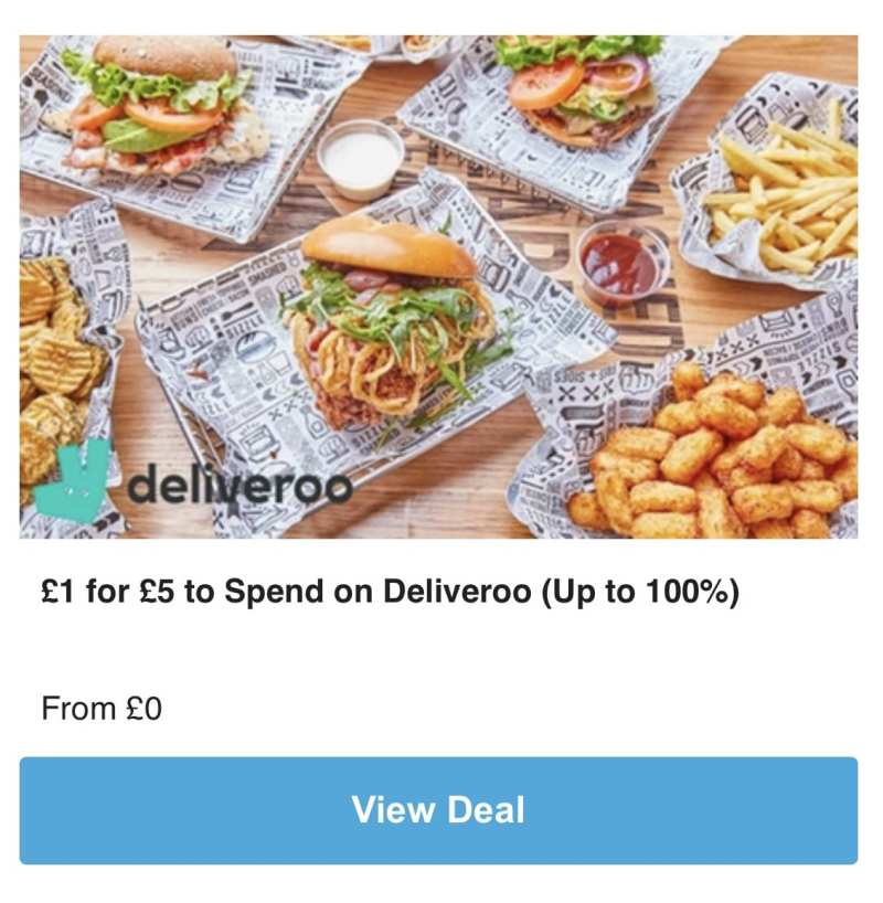 Groupon deliveroo deal