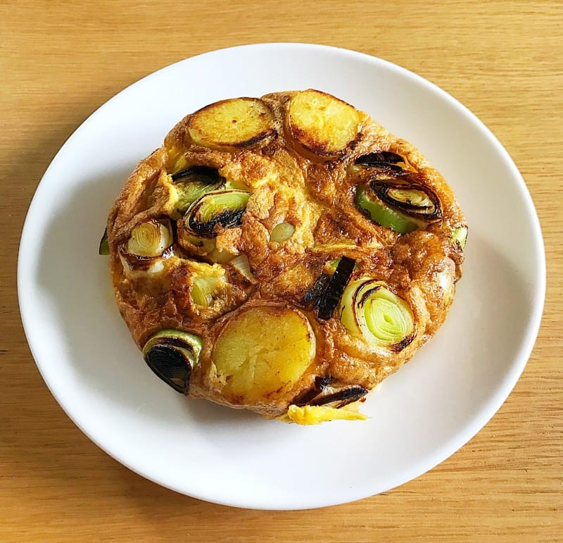 British Gems baby Potato and leek tortilla recipe