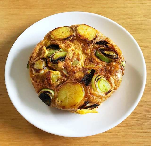 Baby gem and leek tortilla recipe