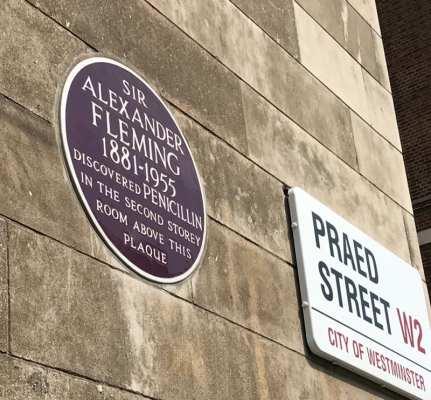 Alexander Fleming Laboratory penicillin Paddington London