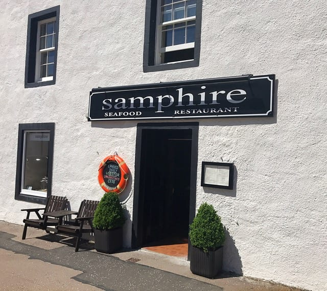 Samphire seafood restaurant Inveraray scotland