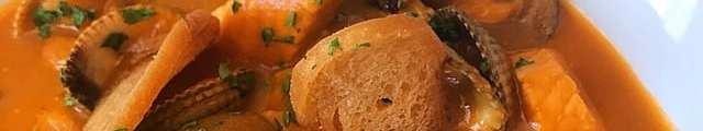 Fish stew Samphire seafood restaurant Inveraray scotland