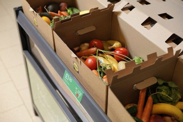 Lidl waste not fruit and veg boxes