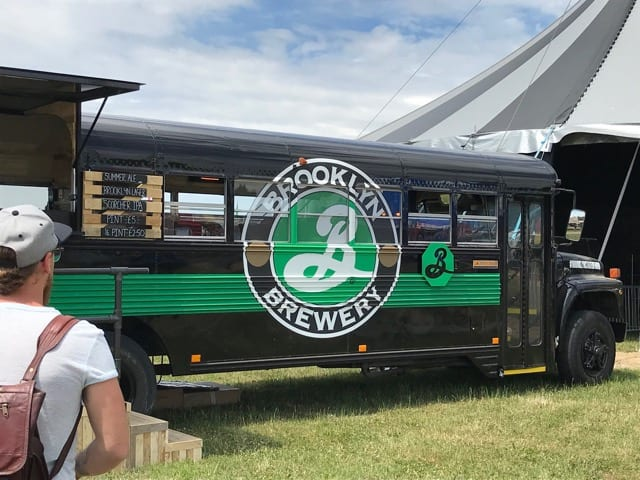 Brooklyn brewery bus baad Glasgow