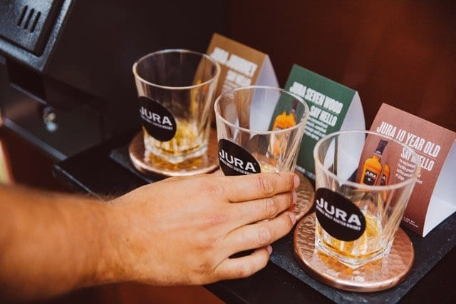 Jura whisky platform at the arches Glasgow