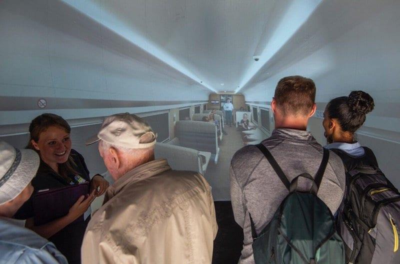 Scotrail virtual reality caledonian Sleeper train