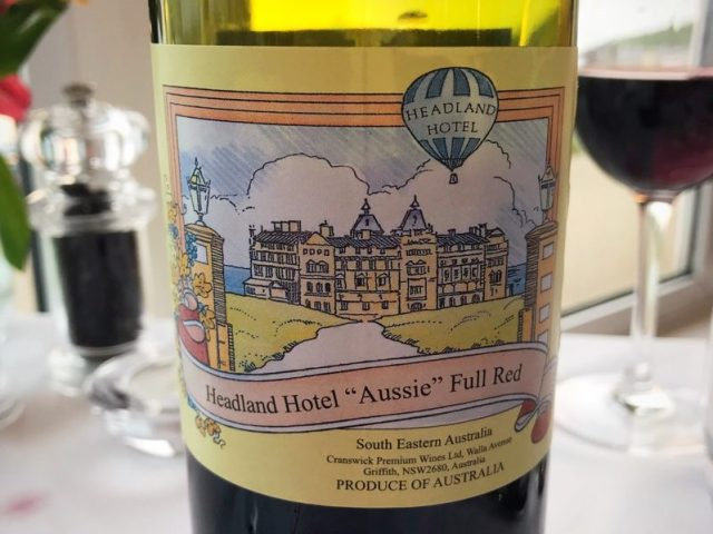 headland hotel house red wine