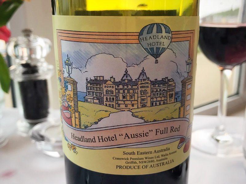 headland hotel house red wine