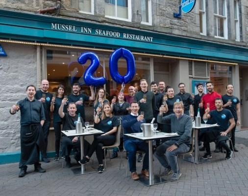 Mussel inn Glasgow edinburgh Birthday
