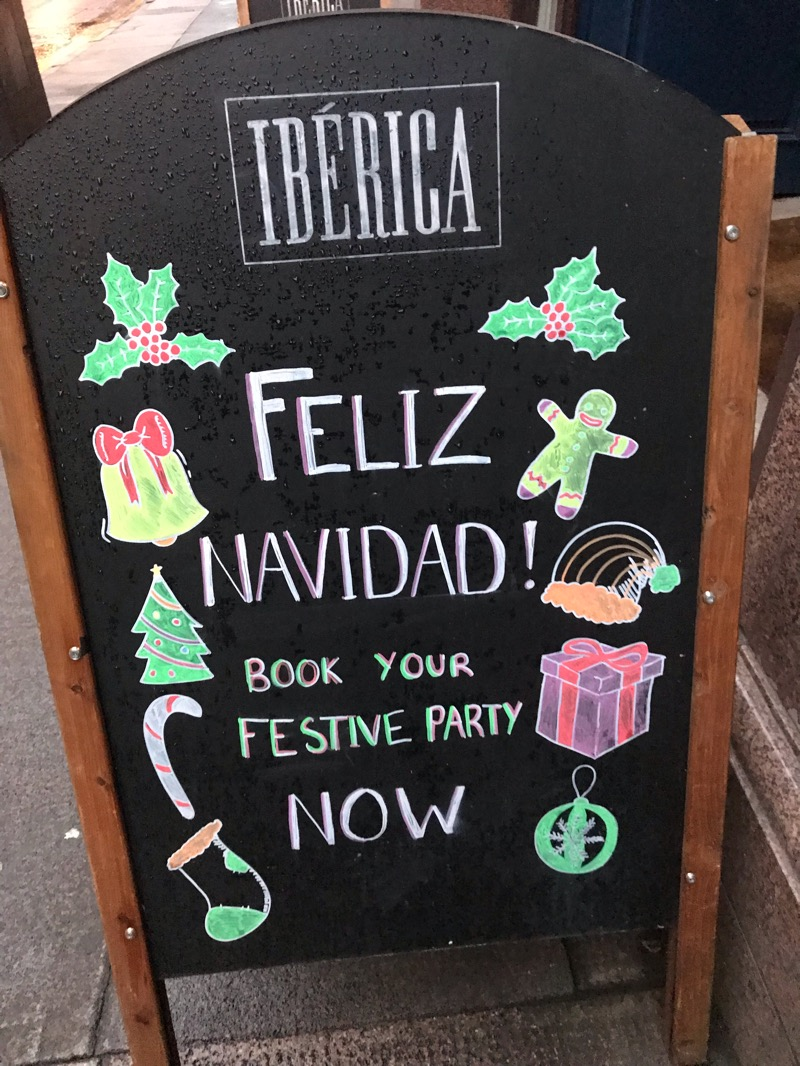 Christmas menu Ibérica