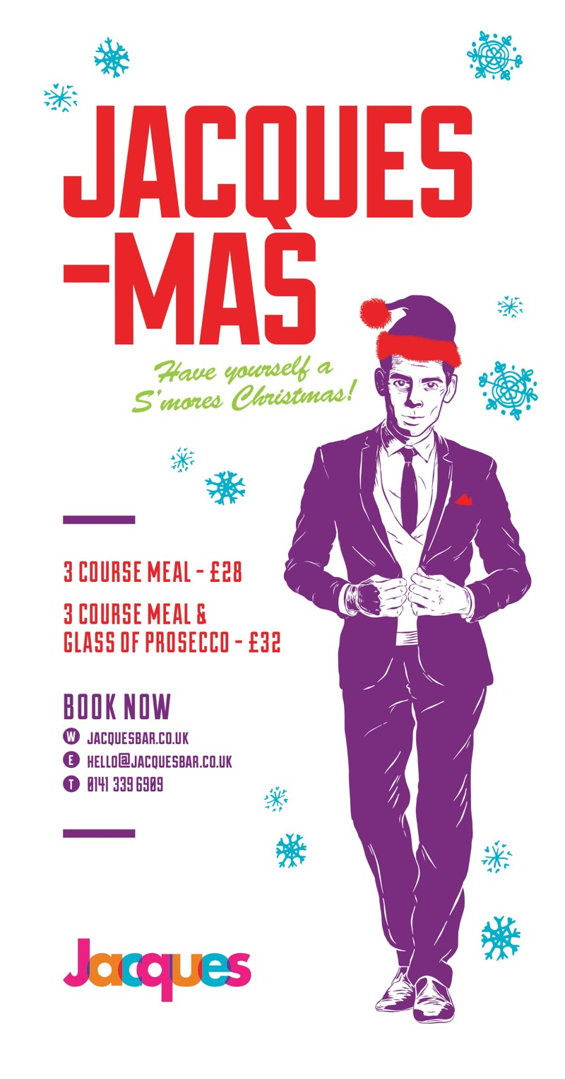 Christmas menu Jacques Finnieston bar restaurant Brel itison West End