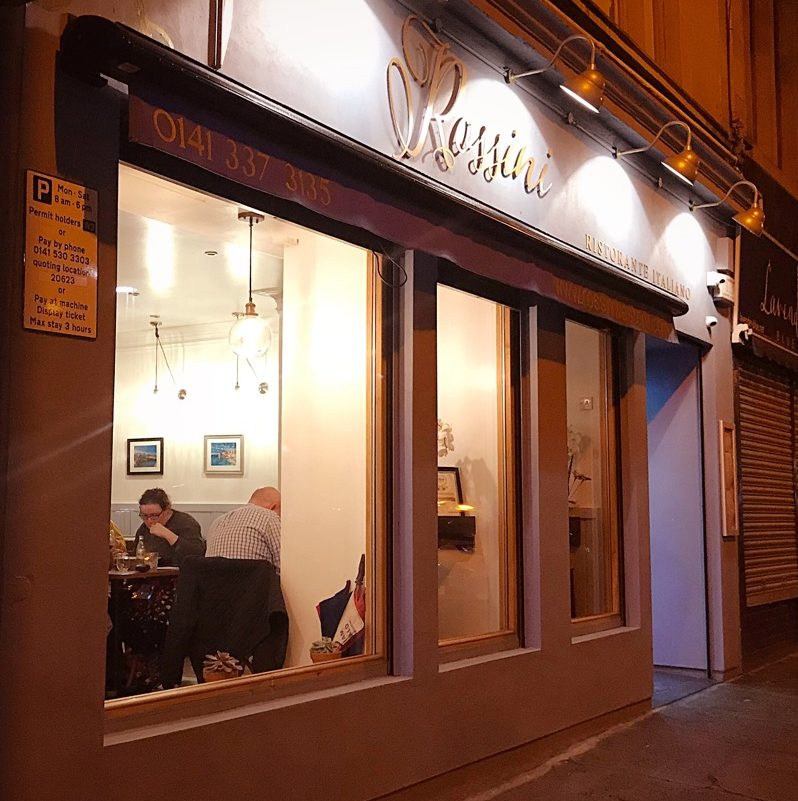 Rossini Partick westend Glasgow Italian