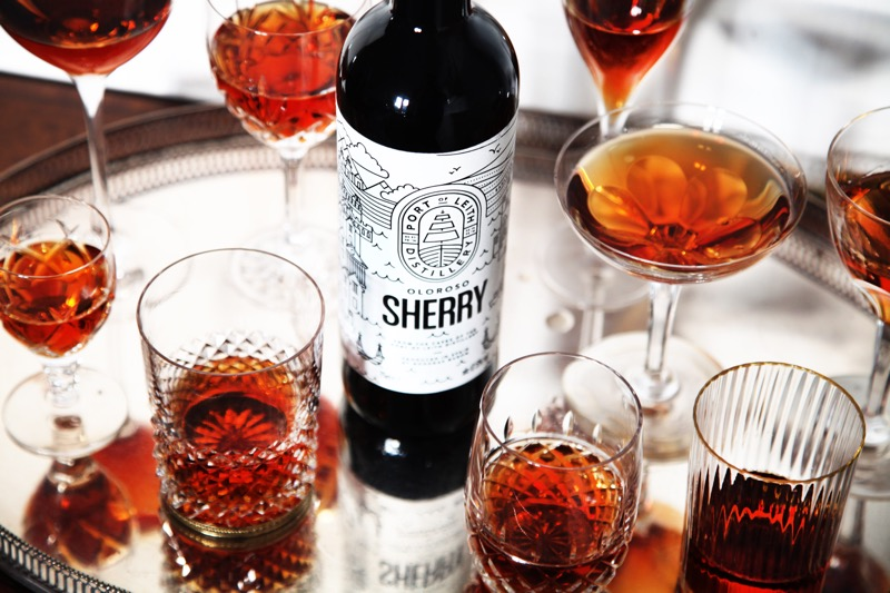Sherry port of Leith Distillery