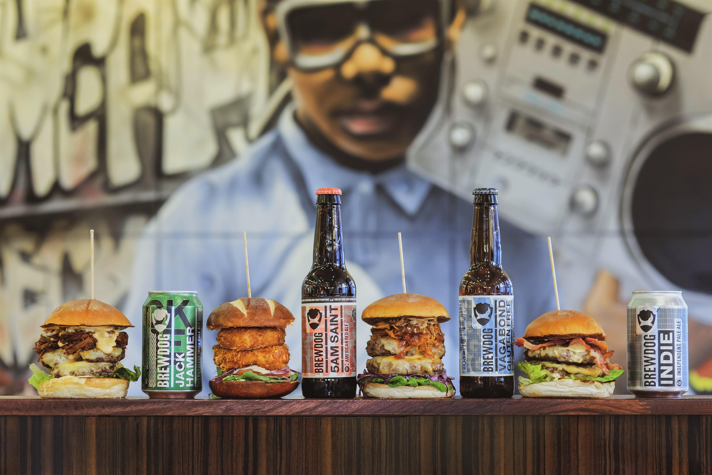 Bath St Burgers, Glasgow with Brewdog beers