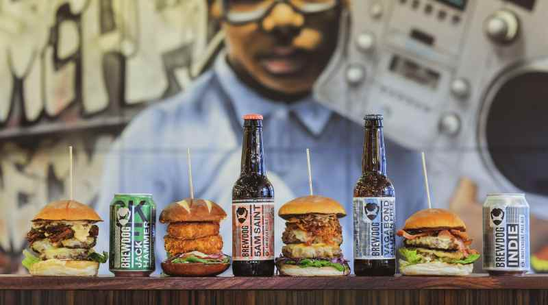 Bath St Burgers, Glasgow with Brewdog beers