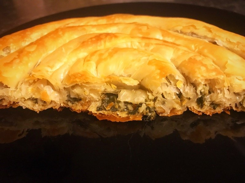 Waitrose filo spinach pie Burek Glasgow foodie Explorers