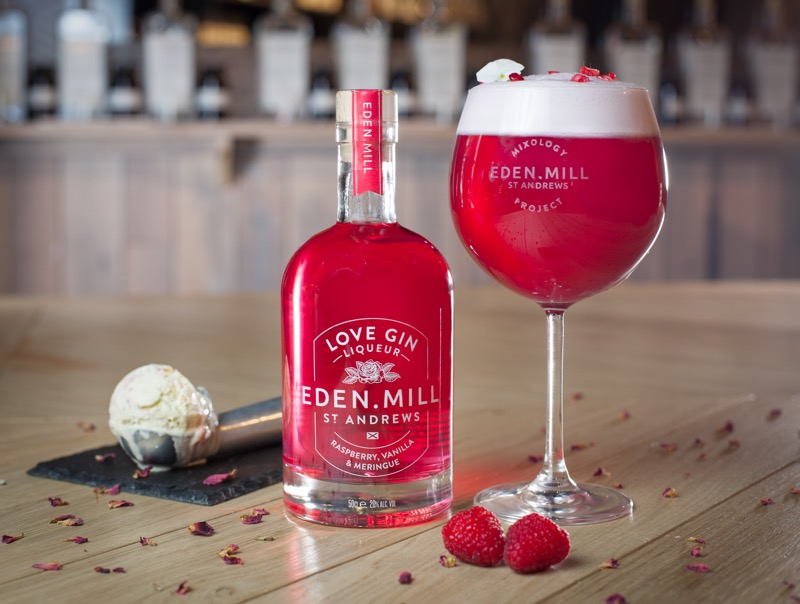 Eden Mill love gin Liqueur raspberry ripple