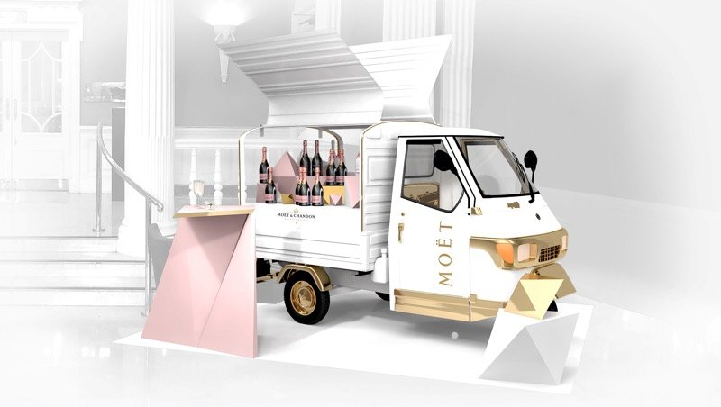 Möet Rosé truck to visit Edinburgh and Glasgow