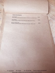 Villager bar Edinburgh food menu