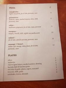 Errols pizza Glasgow menu