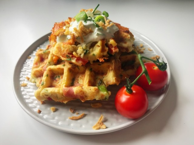 Recipe: Cheesy Leftover Mashed Potato Waffles