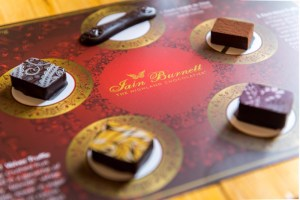 Chocolate flights Iain Burnett master chocolatier