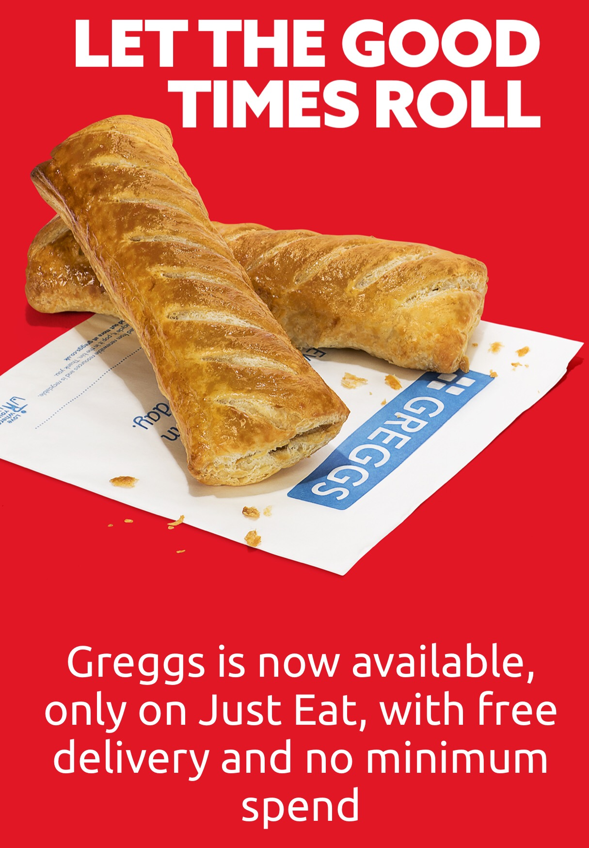 Greggs home delivery Just Eat