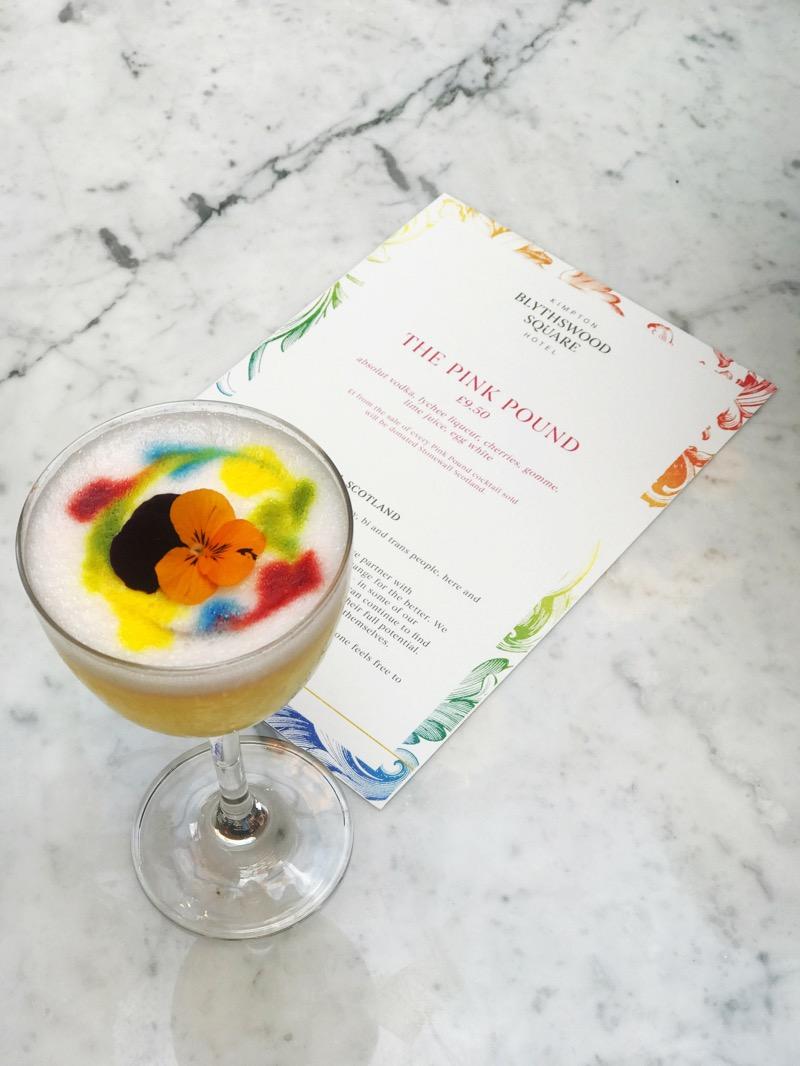 Kimpton Blythswood Square Hotel Glasgow Pride The Pink Pound Cocktail