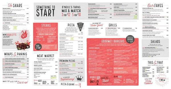 o'neills glasgow grand central review foodie explorers menu