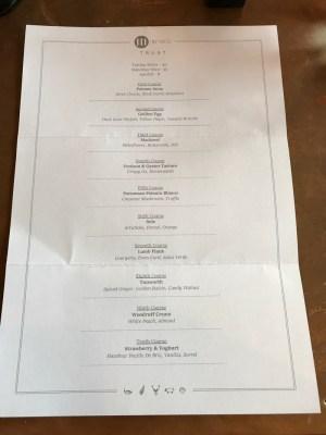 Trust 111 by Nico tasting menu west end Glasgow menu