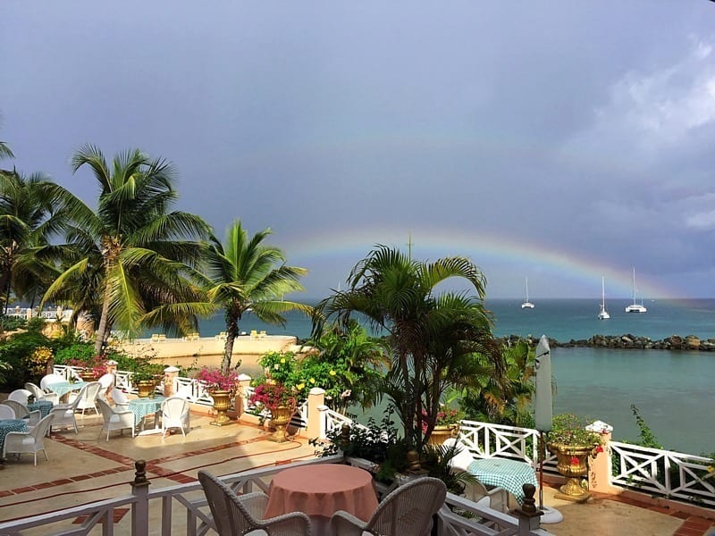 sea with rainbow view