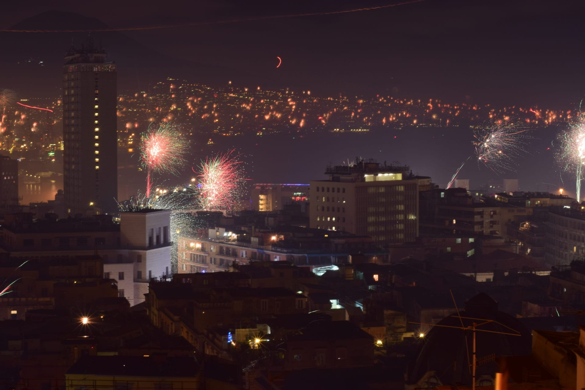 Naples new year fireworks