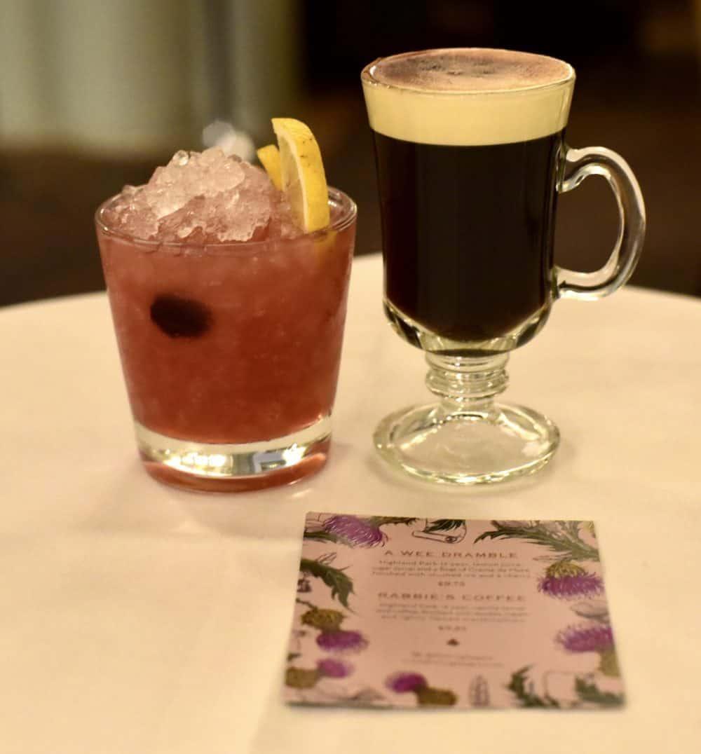 The Ivy glasgow burns night drinks